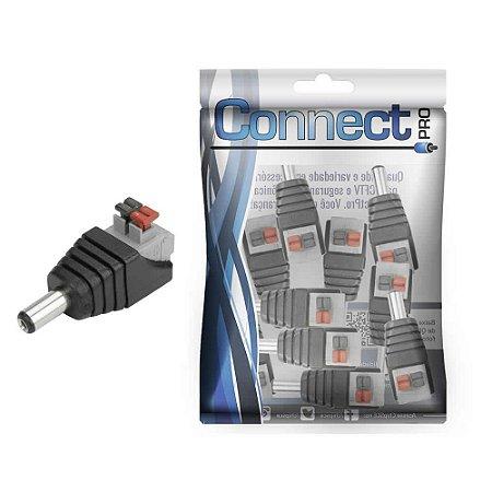 Conector P4 2.5 x 5.5mm Macho Borne Engate Rápido - 10 Unidades