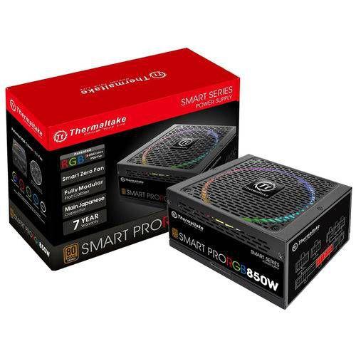 Fonte 850w Thermaltake Smart Pro Rgb - Pfc Ativo 80 Plus Ps-spr-0850fpcbus-r