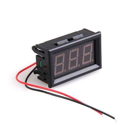 Voltímetro Digital 3 Dígitos LED 30V a 500VAC - Vermelho