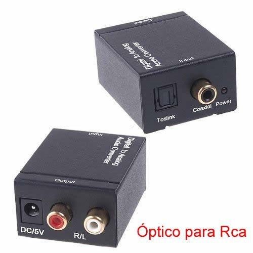 Conversor de óptico Toslink Para Rca