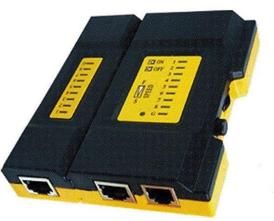 Mini Testador De Cabo De Rede Utp Ftp Rj45 Rj11 - 9060