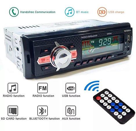 Rádio Automotivo Bluetooth Mp3, Usb, Aux e Fm - 6085BT