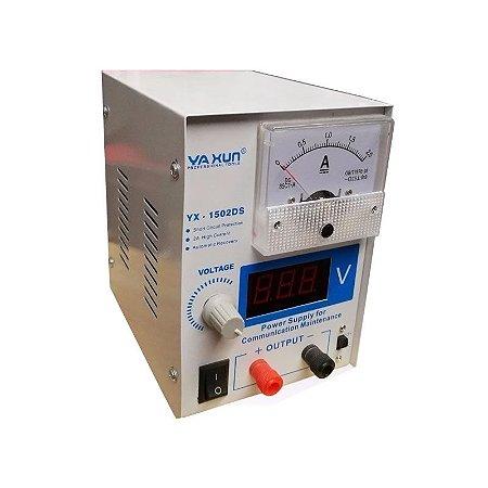 Fonte Assimétrica De Bancada 0-15V 2A  - Yaxun YX-1502DS (220v)