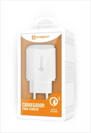 Carregador Usb De Parede Turbo 3A Quick Charge 3.0 - Sumexr SX-QC3