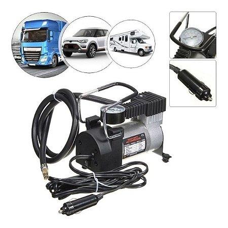 Mini Compressor De Ar Automotivo Portátil 12v 100PSI - Profissional