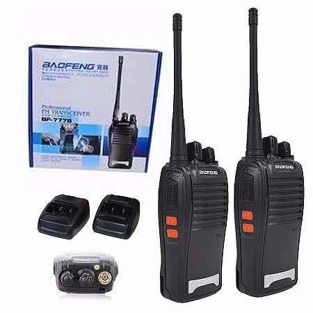 Rádio Ht Comunicador Baofeng  BF-777S 16 Canais - (1 par)