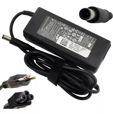 Carregador de Notebook Dell 19.5v 4.62a 90w - Plug 7.4x5.0mm