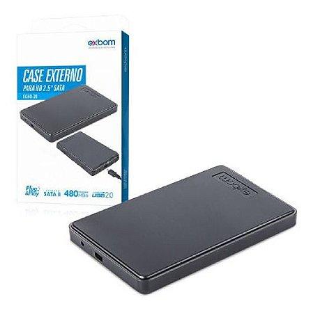 Case Para Hd 2.5 Sata Usb 2.0 Exbom CGHD-20
