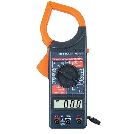 Alicate Amperímetro Digital Com Multímetro E Estojo