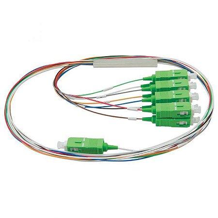 Splitter Conectorizado Balanceado 1x8 Sc/apc (Verde) - 2Flex