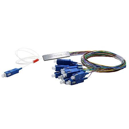 Splitter Conectorizado Balanceado 1x16 Sc/Upc (Azul) - 2Flex