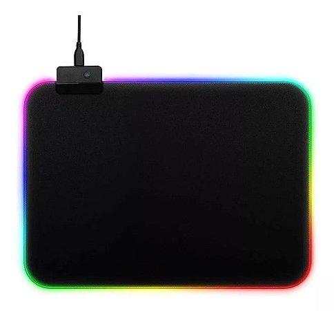 Mouse Pad Gamer Médio Com Led RGB 11 Efeitos - Exbom  MP-LED2535