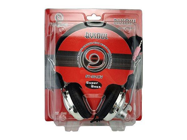 Fone de Ouvido com Microfone Headset para Computador Sy-301mv