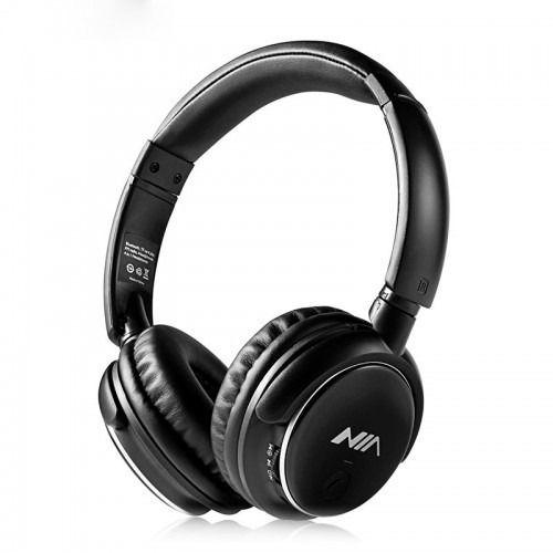 Fone De Ouvido Headset Bluetooth (V4.2) 4 em 1 - Nia Q1 (Preto)