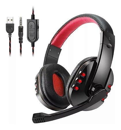 Fone Headset Gamer Com Led e Conector P3 - Exbom HF-G310P4