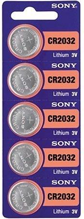 Bateria Cr 2032 Sony Botão Lithium 3v - Cartela C/ 5 Unidades