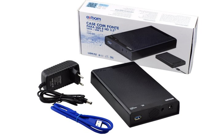Case Para HD Sata 3.5 Externo Usb 3.0 6Gbps - Exbom CGHD-G33