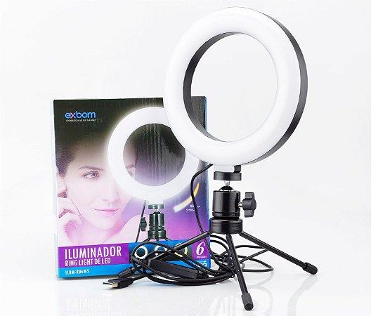 Iluminador ring light 16cm 6 Polegadas 48 Leds 5w - Exbom