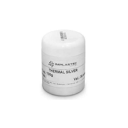 Pasta Térmica Com Prata Implastec Thermal Silver 500g