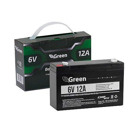 Bateria Selada 6V 12A - Green 013-1001