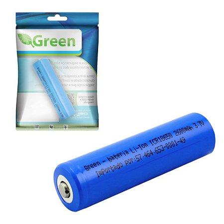 Bateria Recarregavel CR 18650 3.7v 2600mah Li-ion - Green