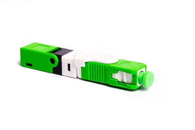 Conector Óptico de Campo SC/APC (Verde)  Click - 1 Unidade