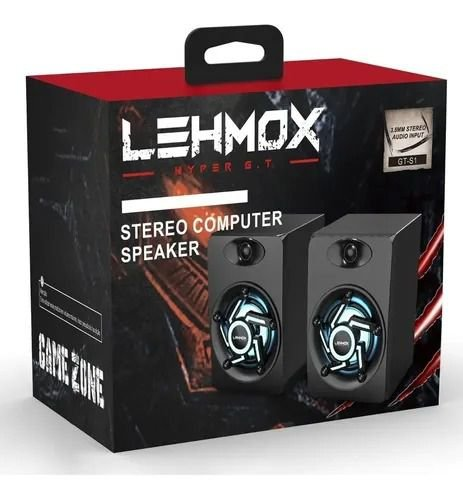 Caixa De Som Gamer Led Rgb Stéreo 6w Usb/P2 - Lehmox GT-S1