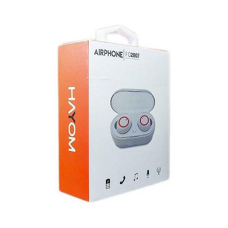 Fone De Ouvido Sem Fio TWS Bluetooth Airphone - Hayom Fo2807