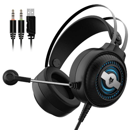Headset Gamer Rgb Nubwo N1 Pro Over Ear - 3.5mm