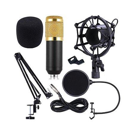Kit Microfone Condensador Bm-800 Cardióide - Profissional