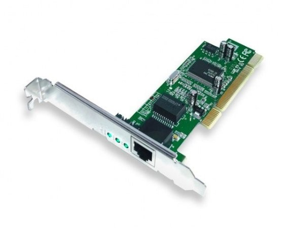 Placa de Rede PCI Gigabit Ethernet 10/100/1000Mbps - UTP - 32 bits