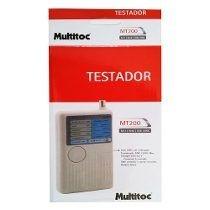 Testador De Cabos Multifuncional rj45 usb e bnc Mt-200 Multitoc