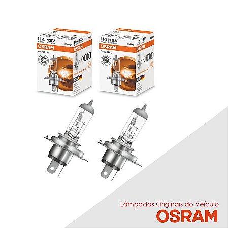 Lâmpada Onix 2012 a 2015 H4 Farol Alto Original Osram Par
