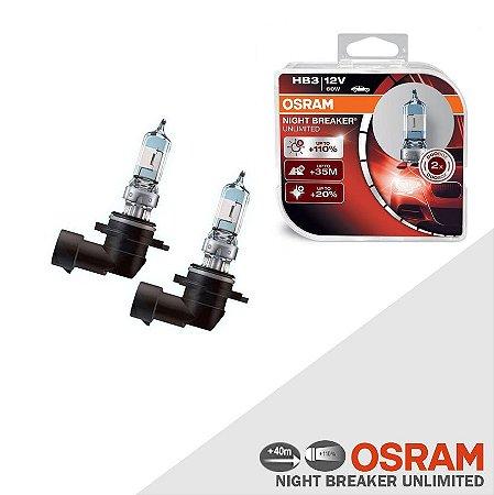 Lâmpada Osram Night Breaker Unlimited HB3 110% Luz - 3900K