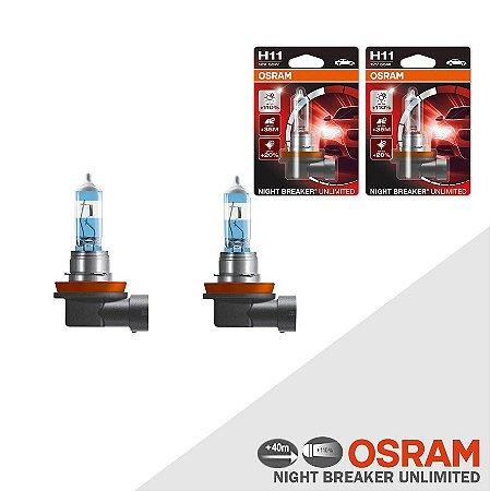 Lâmpada Osram Night Breaker Unlimited H11 110% Luz - 3900K
