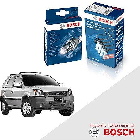 Kit Jogo Cabo+Velas Bosch Ecosport 1.6 8v Zetec Gas 03-07