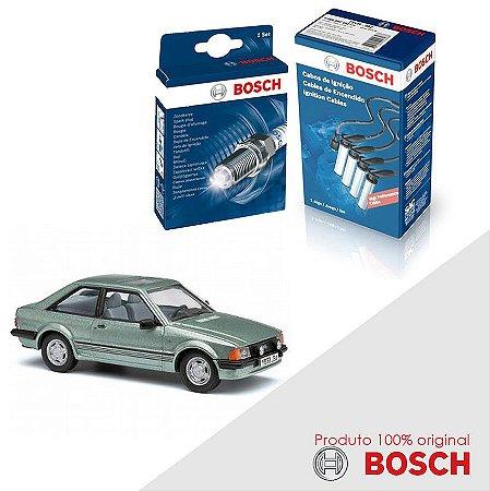 Kit Jogo Cabo+Velas Bosch Escort 1.8 8v AP1800 Gas 89-92