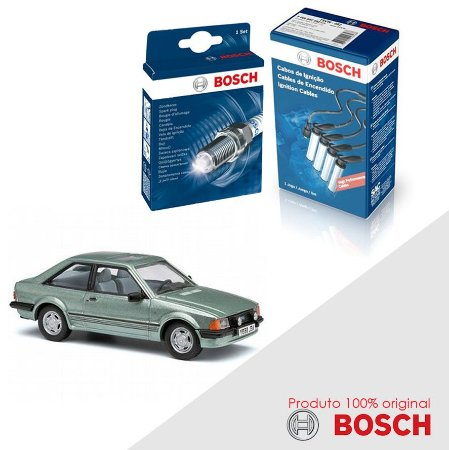 Kit Jogo Cabo+Velas Bosch Escort 1.8 8v AP1800 Gas 92-94