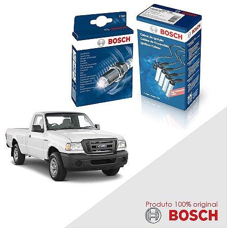 Kit Jogo Cabo+Velas Orig Bosch Ranger 2.3 16v DOHC Gas 01-12