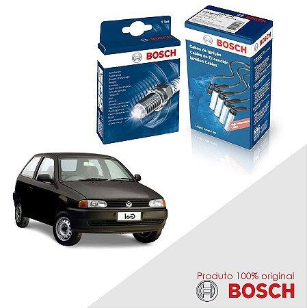 Kit Jogo Cabo+Velas Bosch Gol G2 Special 1.0 8v AT Gas 99-05