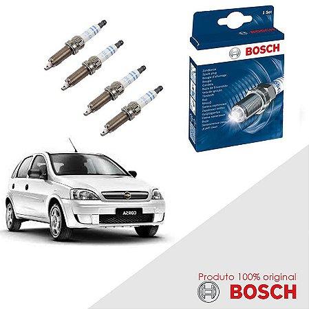 Kit Jogo Velas Orig Bosch Corsa 1.8 8v SOHC MPFI Gas 02-12