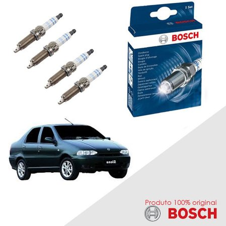 Kit Jogo Velas Orig Bosch Siena G1 1.6 16v Fiasa Gas 97-03
