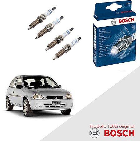 Jogo Velas Original Bosch Corsa 1.6 16v DOHC SFI Gas 95-96