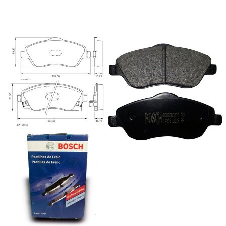 Pastilha Freio Dianteira Corsa 1.8 MPFI  03-09 Bosch
