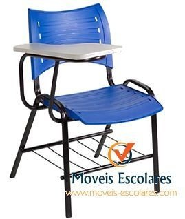 MOVEIS ESCOLARES / CADEIRA UNIVERSITÁRIA /  ISO C/ PORTA LIVROS/CADEIRA UNIVERSITARIA POLIPROPILENO/ COM PORTA LIVROS E PRANCHETA FIXA