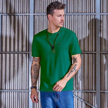 Camiseta Masculina Básica Verde