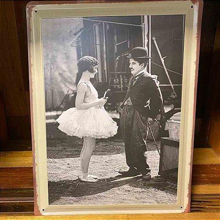 Quadro de Metal Chaplin