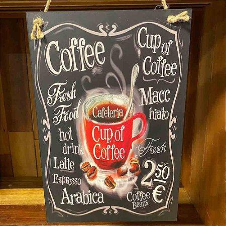 Quadro de Madeira Café