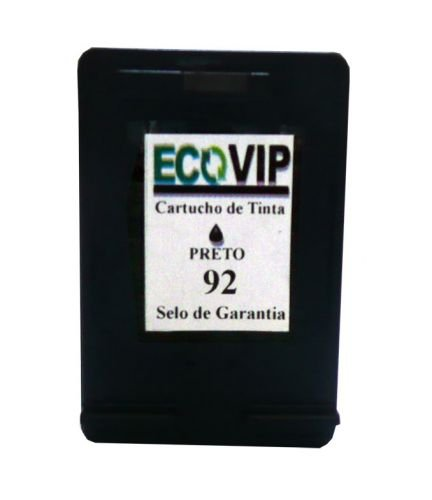 Cartucho Para Impressora Hp Photosmart C3150 - Hp 92 (c9362) Compatível Novo Preto Ecovip