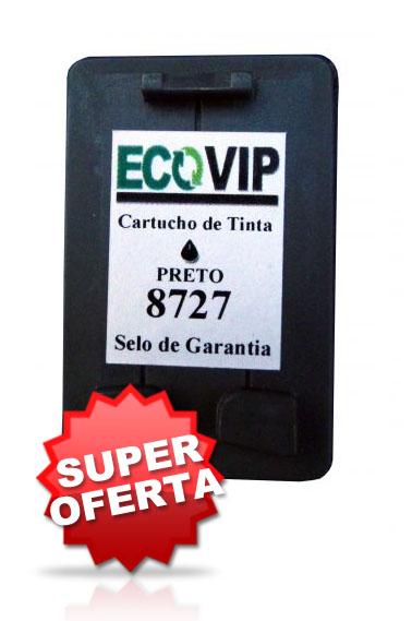 Cartuchos Hp 27 (c8727 - Preto) Compatível Para Impressora Hp Deskjet 3845- Ecovip